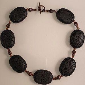 Black Lava Stone Necklace